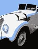 vita svarta blåa signaler för bil Arkivfoton