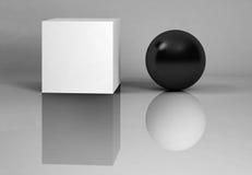 vita svarta reflexioner Royaltyfri Foto