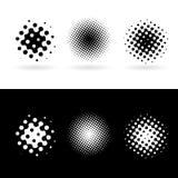 vita svarta runda fläckar Arkivfoton