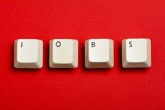 Vita tangentbordtangenter för jobb Royaltyfri Bild