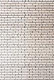 Vita tegelstenar i väggen Royaltyfria Foton