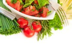 vita tomater för sallad för balökpeppar royaltyfri foto