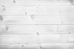 Vita träplankor, tabletop, yttersida för parkettgolv arkivbilder