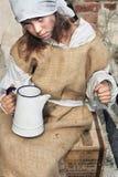 Vita triste di giovane, bambino povero Fotografie Stock
