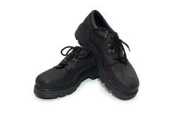 vita tunga isolerade skor för bakgrundsarbetsuppgift Royaltyfri Bild