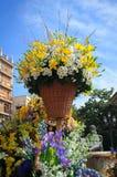 Vita tusenskönor för gul lilja Royaltyfria Bilder