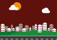 Vita urbana di città e del paesaggio Fotografia Stock Libera da Diritti