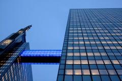 Vita urbana - torrette del cielo a Brussel Immagine Stock