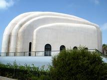 Vita väggar 2010 för telefon Aviv Hechal Yehuda Synagogue Arkivfoto