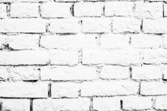 Vita väggtegelstenar Royaltyfria Foton