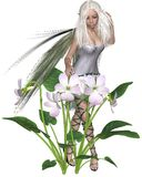 Vita Violet Fairy royaltyfri illustrationer