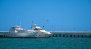Vita yachthamnar Fotografering för Bildbyråer