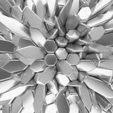 Vitabstrakt begrepp kvadrerar bakgrunden 3d som framför geometriska polygoner Royaltyfria Foton