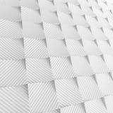 Vitabstrakt begrepp kvadrerar bakgrunden 3d som framför geometriska polygoner Arkivfoton