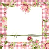 Vitage-Blumenkarte Stock Abbildung