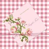 Vitage-Blumenkarte Lizenzfreie Abbildung