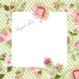 Vitage-Blumenrahmen Lizenzfreie Abbildung