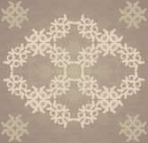 Vitage brown flourish pattern Stock Images