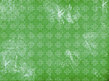Vitage flourish pattern green background Royalty Free Stock Image