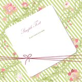 Vitage flower card Stock Photos
