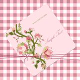 Vitage flower card Royalty Free Stock Images