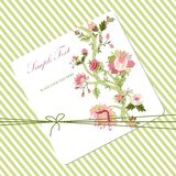 Vitage flower card Royalty Free Stock Photos