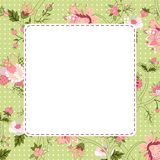 Vitage flower frame Stock Photography