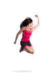 Vital and athletic girl jump Stock Photo