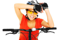 Vital cyclist Royalty Free Stock Photography