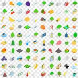 100 vital icons set, isometric 3d style. 100 vital icons set in isometric 3d style for any design vector illustration Royalty Free Stock Images