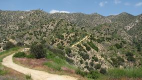 Vital Link Trail. View from the Vital Link Trail in Burbank, CA Royalty Free Stock Photos