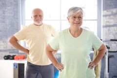 Vital pensioners exercising Royalty Free Stock Images