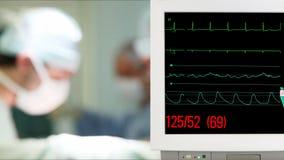 Vital Sign Monitoring na sala de operação vídeos de arquivo