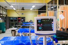 Vital signs monitor in hospital Stock Image