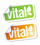 Vital stickers. Stock Image