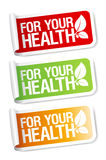 Vital stickers. For your health, vital stickers set Royalty Free Stock Image