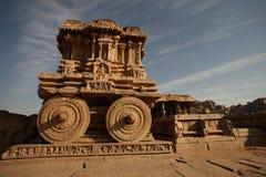 Vitala寺庙亨比卡纳塔克邦印度 库存图片