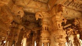 Vitala temple Hampi Karnataka India. Vintage Vitala temple Hampi Karnataka India stock video footage