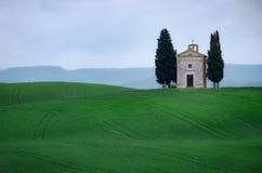 Free Vitaleta Chapel, Near Pienza, Val D`Orcia, Orcia Valley, Province Of Siena, Tuscany, Italy Royalty Free Stock Image - 137024276