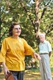 Vitalité - femme aîné à l'extérieur Image stock