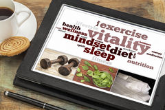 Free Vitality Concept On Digital Tablet Stock Photography - 34942872