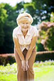 Vitality. Independent Gracious Old Woman Granny having Fun Stock Images