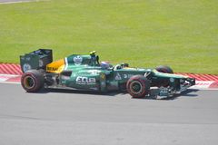 Vitaly Petrov in 2012 F1 Canadian Grand Prix Royalty Free Stock Images