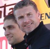Vitaly Petrov e David Coulthard Fotos de Stock Royalty Free