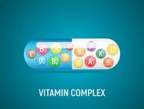 Vitamin and Antioxidant Complex. Vector Illustration. EPS10 royalty free illustration