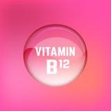 Vitamin B12 01 A royaltyfri illustrationer