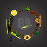 Vitamin B9 Background Royalty Free Stock Photography