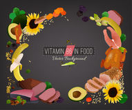 Vitamin B6 Background Stock Images