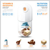 Vitamin B Chart Diagram Health And Medical Infographic Stock Photography