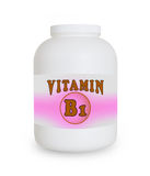 Vitamin B1 container Royalty Free Stock Photo